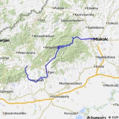 2. nap Sirok - Egerszalok - Eger - Felsotarkany - Lillafured - Miskolc