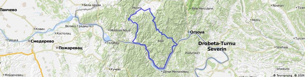 completed Bania - Mraconia - Liubcova - Ravensca - Bania