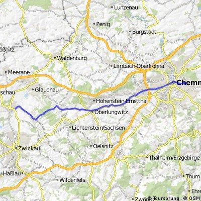 Arbeitsweg über Thurm und Rümpfwald