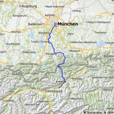 München-Isar-Tegernsee-Achensee-Inn-Weer