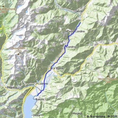 Lago d'idrio, sentiero nord