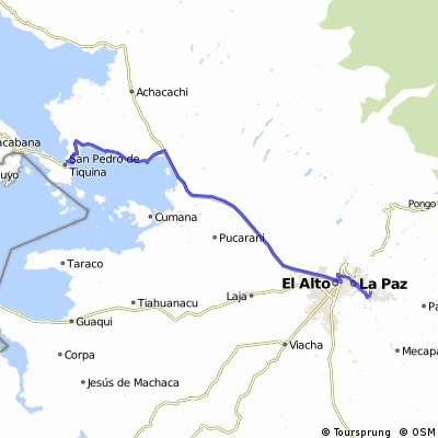10b.San Pablo de Tiquina - Ciudad de La Paz 121 Km