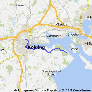 Cycling routes and bike maps in and around Kolding Bikemap Your