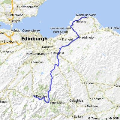 Peebles to North Berwick via Innerleithen