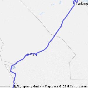 Turcmenistan, 498 km