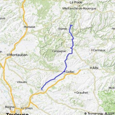 Najac - Cordes - Gaillac - Rabastens - St Supice