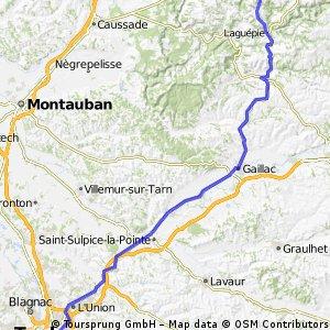 Najac - Cordes - Gaillac - Rabastens - TLS