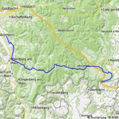 Von Niedernberg nach Wertheim-Bettingen
