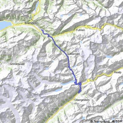 Meiringen Oberwald via Grimselpass