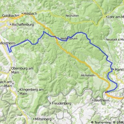 Von Wertheim-Bettingen nach Niedernberg
