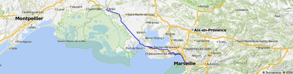 Arles to Marseille