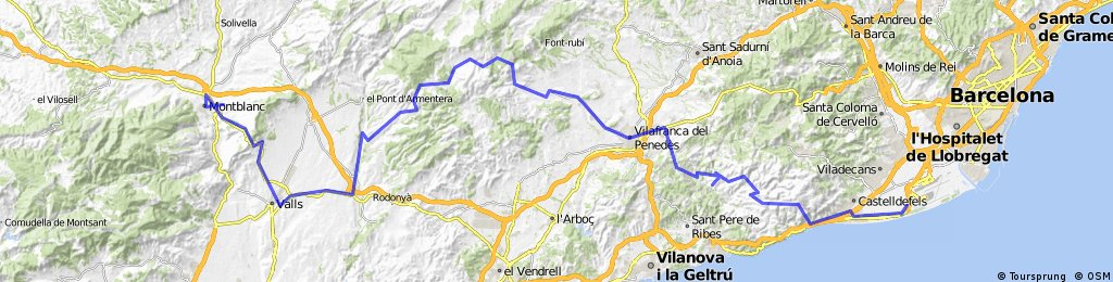 2014_Tag 01_Castelldefels - Montblanc