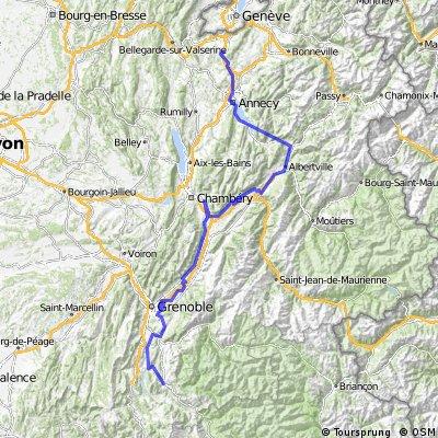 Alpenüberquerung 2014 - Genf - La Joue du Loup