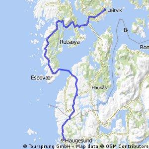 Norwegen 2015 - Leirvik -> Haugesund