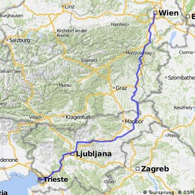 Von Wien nach Trist ans Meer