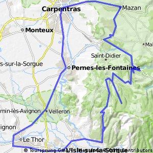 Rondje fietsen in den Provence