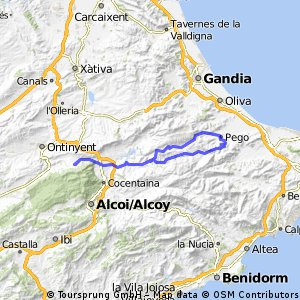 Agres-Gallinera-Vall D'Ebo-Agres