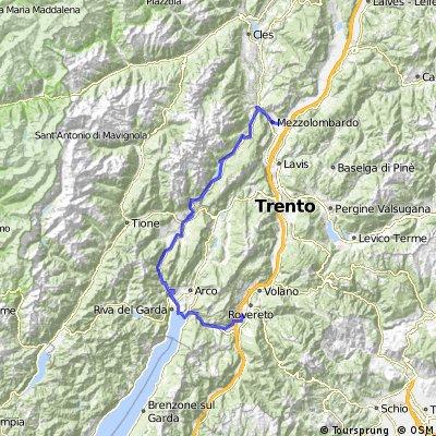 Mezzolombardo - Molveno - Lago die Tenno - Rovereto
