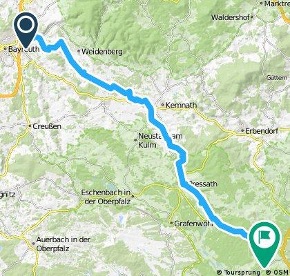 Von Bayreuth nach Weiden
