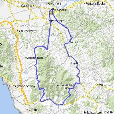 Allenamento Team Fanelli bike - Castellina/Riparbella/Montecatini v.Cecina