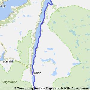 Stage 13 Tour du Nord 2014 Ringøy - Låtefossen 67km