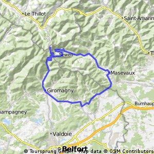 Ballon Alsace Rundkurs