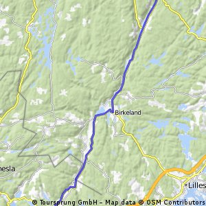 Travel Stage 3 Tour du Nord 2014 Herefoss - Hamre 41km