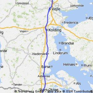 Stage 19 Tour du Nord 2014 Hammar (DK) - Jarplund (DE) 152km