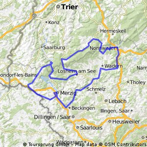 Hochwald RTF der RSG Hochwald Losheim e.V. - 154 km Strecke