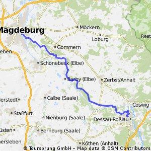 von Magdeburg nach Dessau Bikemap Your bike routes