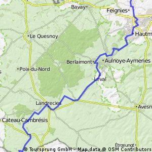 b1 Quevi - wassigny 63 km