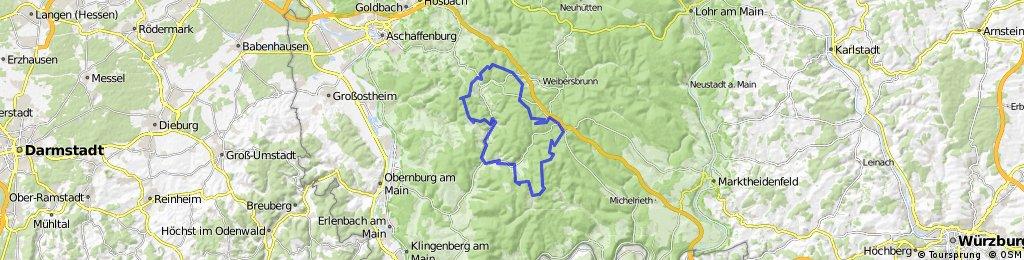 Bikewald Spessart - Route D - Aschaffenburg