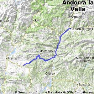 La Seu de Urgell nach Isona