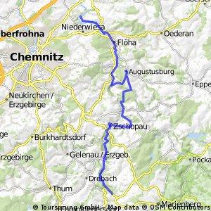 Zschopautalradweg - Teil 2; Lichtenwalde-Warmbad