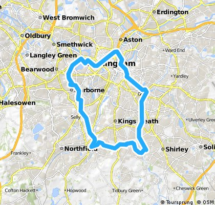 2 hour loop harborne akkers cole valley stratford canal