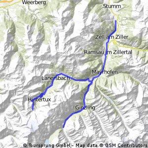Zillertal-S Tuxer Joch do Aschau