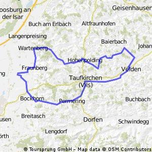 Taufkirchen - Wartenberg - Obervilslern Runde