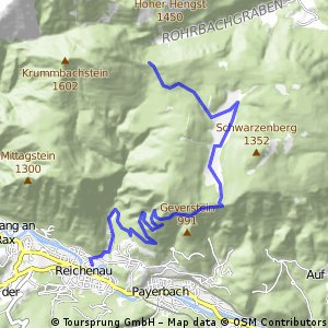 Incomplete route to Schneeberg's summit