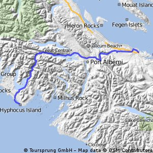 Parksville to Ucuelet