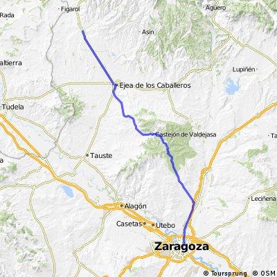 Zaragoza nach Sadaba