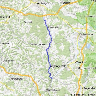 Von Kallmünz nach Theuern(Radlerbahnhof)