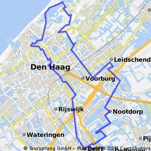 38. Rondje Delft - Den Haag - Leidschenveen - Delft