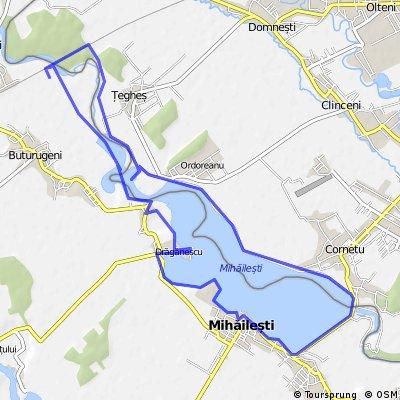 Lacul Mihailesti - tura cu bicicleta in jurul lacului