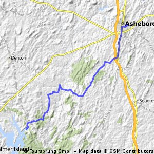 Asheboro to Badin Lake