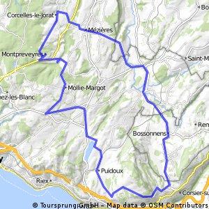 Tour Montpreveyres_Mont-Pélerin_Montpreveyres 49km