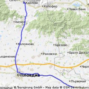 RoadToAsia day 12: Byala Reka - Plovdiv - Karlovo
