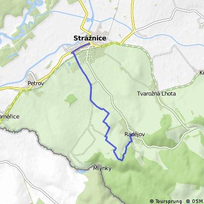 Strážnice - Holý vrch - Radějov (po modré)
