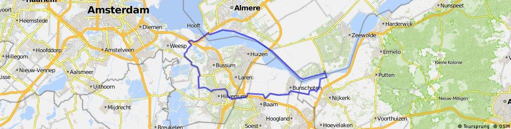 Flevopolder - Rondje-Muiderberg-Almere-Nijkerk-Hilversum