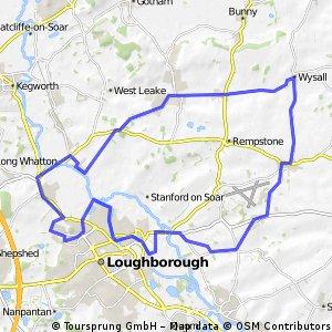 Loughborough - Wysall - loop