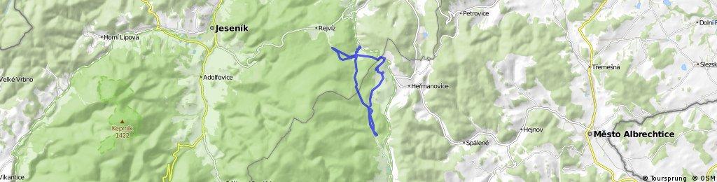 Zlatohorská magistrála trať 20 km